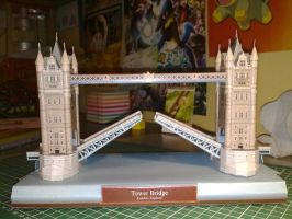Tower bridge papercraft open by Marlous2604
