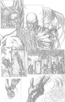 Something Evil page 9 pencils by RudyVasquez