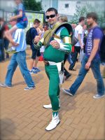 Green Ranger with a pair of sunglasses by ZeroKing2010