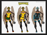Justice League - Hawkgirl Redesigns by Femmes-Fatales