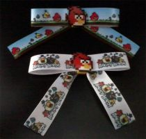 Angry Bird Hair Bows by cosplay-kitty