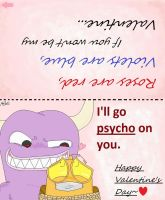 Printable Psycho Monster Valentine's Day Card by CartoonistfromHell