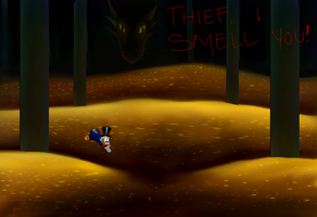 Daily Fan Art #22 Scrooge/Smaug Mashup (Part 2) by EternallyIgnorant