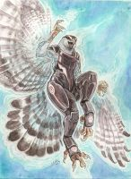 Biotic Goshawk Goddess by caramitten