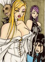 Emma Frost XGirls Sketchcard by TheBoo