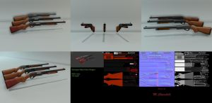 Remington M870 Police Model Sheet by unknownguyver81