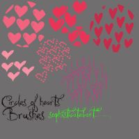 06 CIRCLE'S OF HEARTS BRUSHES by SophiisticatedArt
