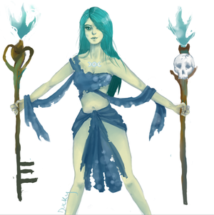 Hecate Greek goddess concept (SMITE)