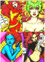 Marvel Villainess Art Card Set by NickUnlimited