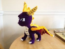 Spyro the Dragon Crochet Plush by Mr-Nova