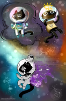 Space Cat by Kinla