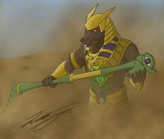 Nasus the Curator of the Sands by Baljet