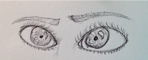 Eye doodle by themoonlitwolf