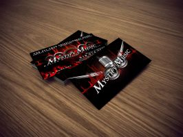 Mystify Music Business Cards by DigitalPhenom
