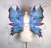 Peacock Fairy Wings - Back by glittrrgrrl