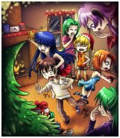 Higurashi Christmas Cheer by Niramuchu