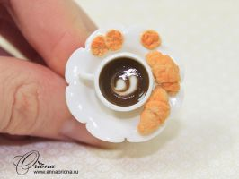 Ring with coffee by OrionaJewelry