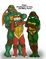 Sis Close Mikey Closer by R2ninjaturtle