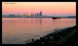 A Beautiful Seattle Evening by GlassHouse-1
