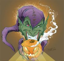 Green Goblin Sketch Colored by millsy1c