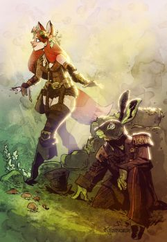 the fox and the hare by BrianKesinger