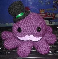Octopus ami with a mustache and top hat! by Amigurumi-Lover
