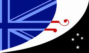 Proposed new New Zealand flag with Union Jack by 3D4D