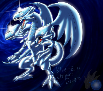 Blue-Eyes Ultimate Dragon ( is that a Shiny?! ) by ColorDrake