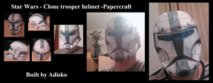 Star Wars Papercraft - Clone trooper helmet by Adisko