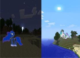 Minecraft Mash Up: Day and Night by FuzzyyPanda