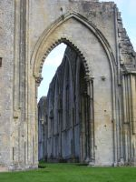 Glastonbury Abbey 53 by LadyxBoleyn