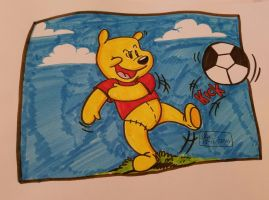 Pooh Bear Goes For the Goal by spongefox