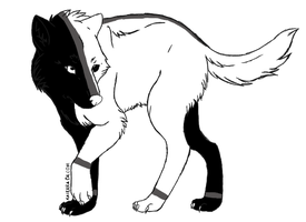 balance wolf for Snowfang33 by InsanityArtist95