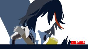 Minimalistic Ryuko wallpaper 4 [1920x1080] by TheDudeManBro