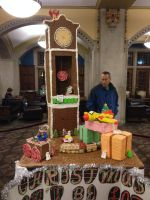 Gingerbread Clock and Train 2 by Simpsonsfanatic33