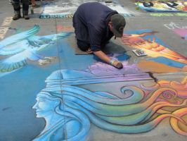 Chalk art by Feantalia