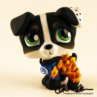 The Human Torch custom Littlest Pet Shop by thatg33kgirl