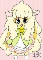 Kawaii Sheep Girl by DaisyPhantom