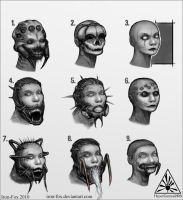 WIP head concepts by Iron-Fox