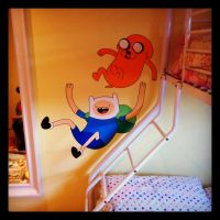 Adventure Time Wall Mural by VeryBadThing