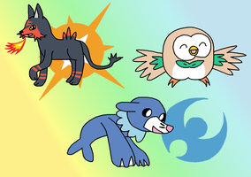 7th Gen Starters by Piplup-Luv