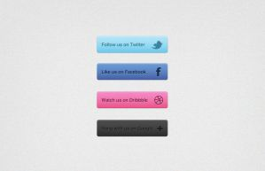 Social Media Buttons PSD by webdesignerbag