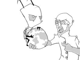 Dr Steel VS Invader Zim by TheVooDooTaco