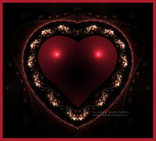 Red Jeweled Heart by Jenna-Rose