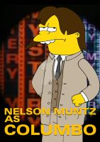 Nelson Muntz as Columbo by engineerJR