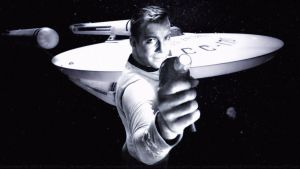 William Shatner Captain Kirk and The Enterprise II by Dave-Daring