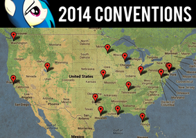 2014 Convention Map (Old Version) by drawponies