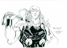 Relaxed Thor - Lille Comics Festival 2013 by SpiderGuile