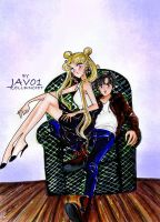usagi and mamoru - happy together by zelldinchit