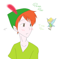 peter pan and tinker bell by aoito95